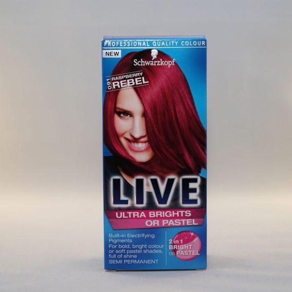 Schwarzkopf Live Ultra Brights or Pastel Raspberry Rebel