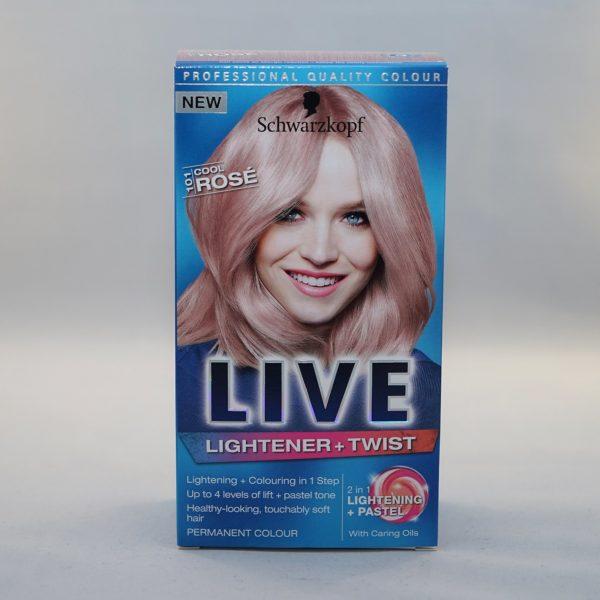 Schwarzkopf Live Rosé Lightener and Twist