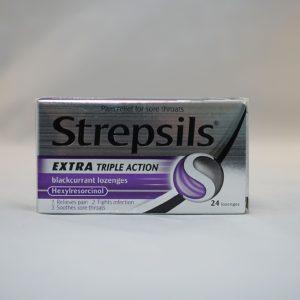 Strpsils Triple Action Blackcurrant Lozenges