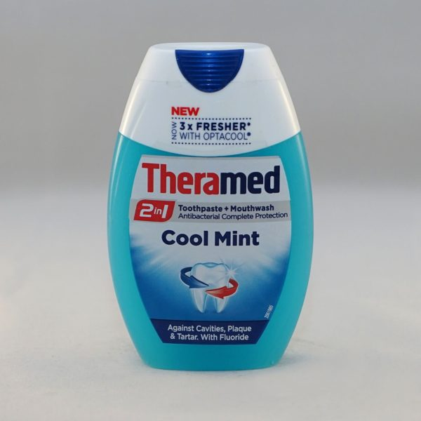 Theramed 2 in 1 Cool Mint Toothpaste and Mouthwash
