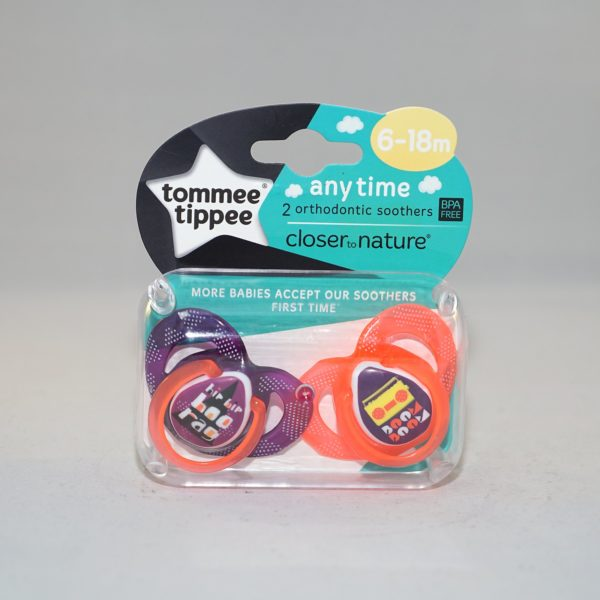 Tommee Tippee Closer to Nature Orthodontic Soothers 6-18m